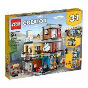 Lego 31097 Creator - Casa Da Cidade Com Loja De Animais E Café 3 em 1 – 969 peças