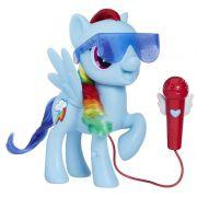 My Little Pony - Rainbow Dash Cantora 21cm – Com microfone para cantar junto – Hasbro