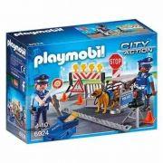 Playmobil City Action Unidade Policial de Bloqueio com Cão - Sunny