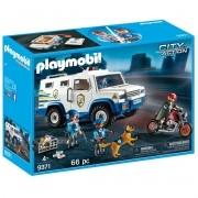 Playmobil City Carro Forte Policia C/ Policiais E Bandido