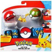 Pokémon kit – Cinto Clip Go + 2 Pokebola + Pikachu - DTC