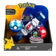 Pokémon kit – Cinto Clip + Pokebola + Ultraball Com Squirtle Tomy