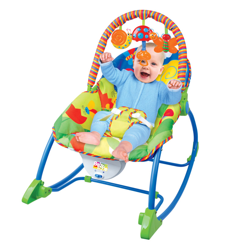 Cadeira Musical Vibratória Descanso C/ Móbile e Balanço Animais – Baby Style