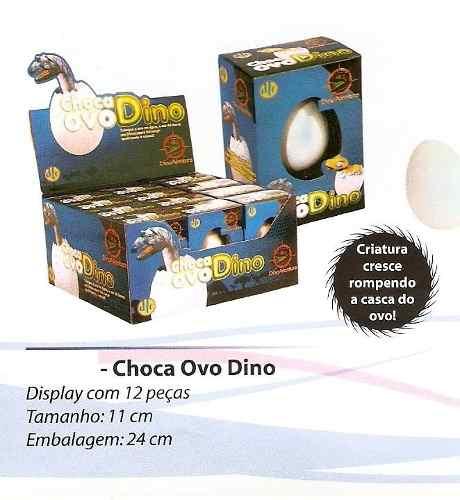Choca Ovo Dino - Display Com 12 Unidades