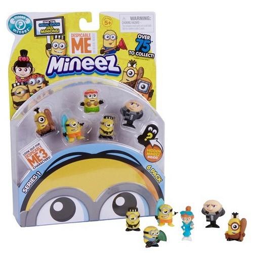 Mineez Minions  Cartela com 6 Personagens Sortidos - Dtc