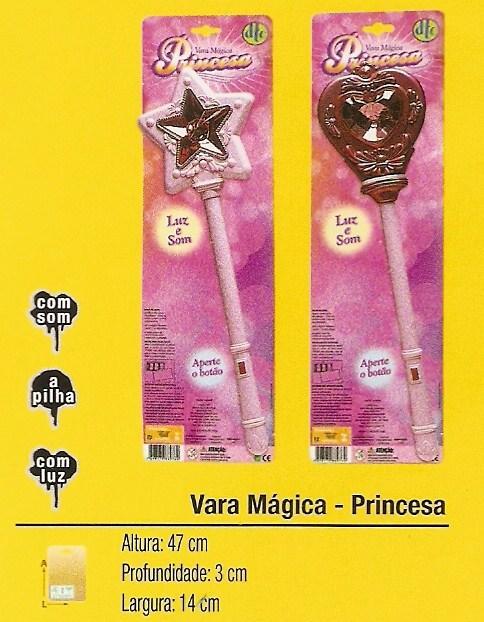 Vara Magica Princesas Com Luz E Som - Cartela