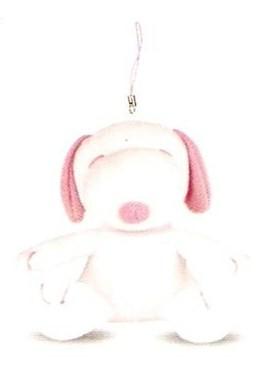 Chaveiro Pelúcia  Snoopy com detalhes Rosa