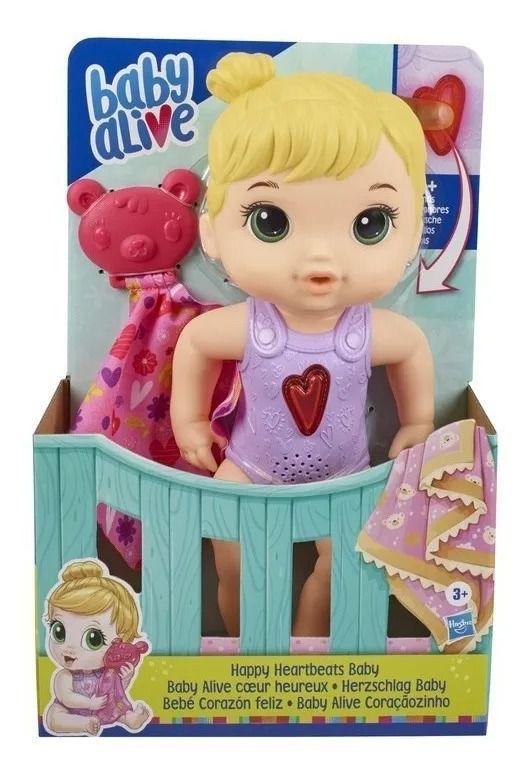 Baby Alive Coraçãozinho Loira Boneca Com Som - Hasbro