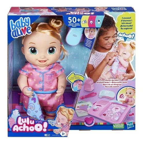 Baby Alive Interativa Lulu Achoo Hora do Exame Loira - 50 Reações , Som e Luz -  Hasbro