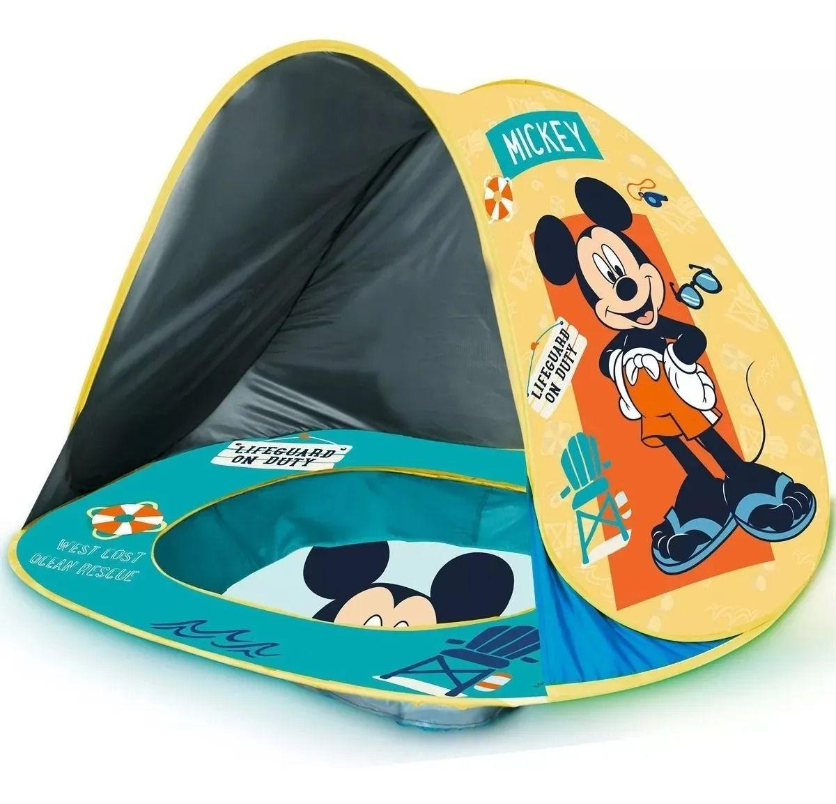 Toca Portátil C/ Piscina Praia Mickey Disney Baby Proteção Uv – Zippy Toys