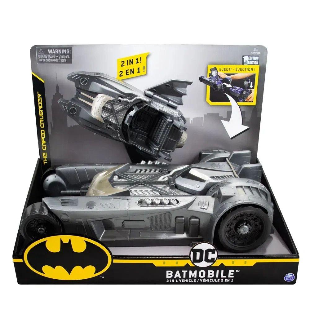 Batmovel Batmobile 2 Em 1  - Carro Batman Acopla e lança Lancha - Sunny