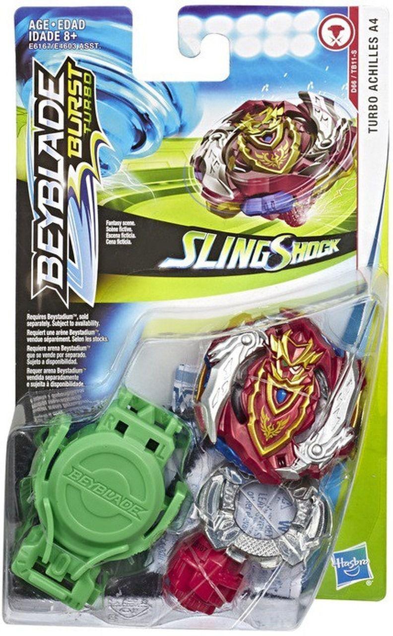 Bey Blade Burst Turbo Sling Shock – 2 modos batalha - Turbo Achilles A4 Hasbro