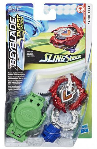 Bey Blade Burst Turbo Sling Shock – 2 modos batalha - Z Achilles A4 Hasbro