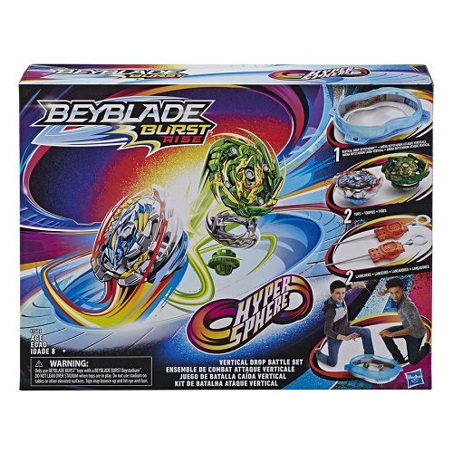 Beyblade Burst Rise Hypersphere Battle – Kit Ataque Vertical – Arena e 2 Piões – Hasbro
