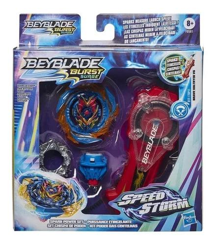Beyblade Burst Surge Speedstorm Kit Poder Das Centelhas – Lançador C/ Faíscas - Hasbro