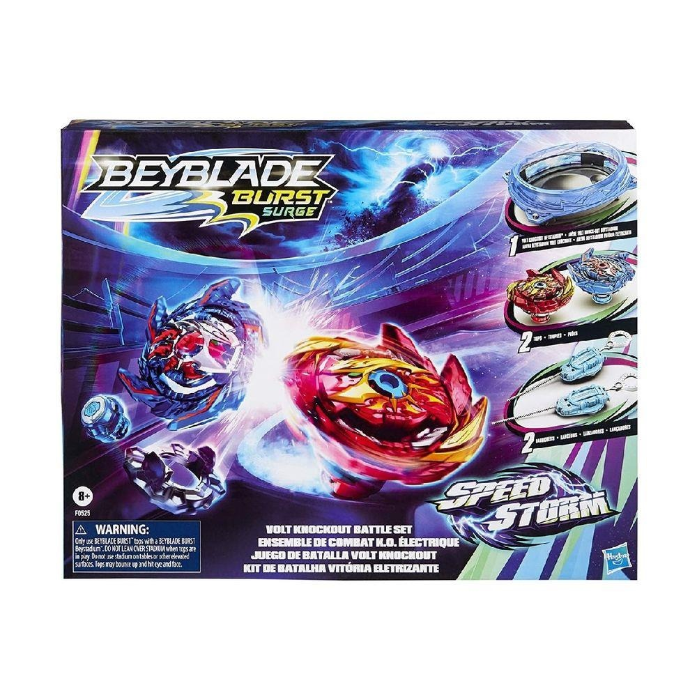 Beyblade Speedstorm Kit De Batalha Alto Impacto – 2 Piões e Arena C/ Disco Giratorio Motorizado – Hasbro