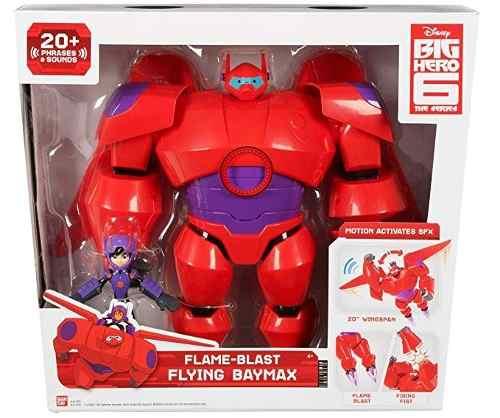 Big Hero Baymax Luxo Chama Voadora Com Hiro + 20 Sons Sunny