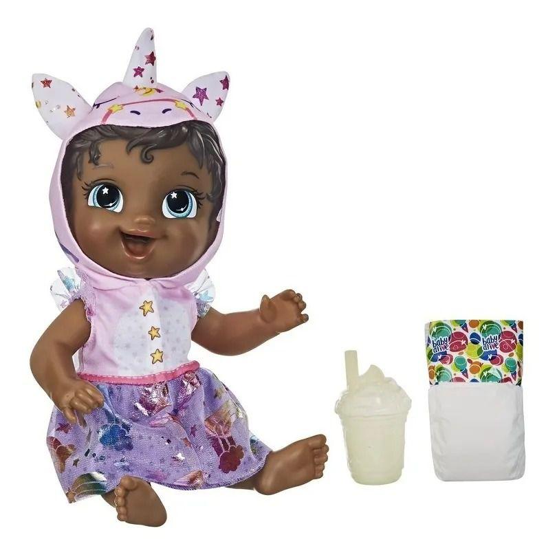 Boneca Baby Alive Com Vestido e Capuz - Tinycorn Unicornio - Hasbro