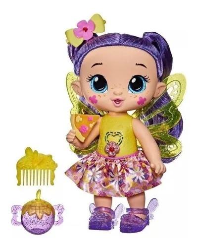 Boneca Baby Alive Glo Pixies Siena Sparkle 27 cm Com Som e Luz - Hasbro