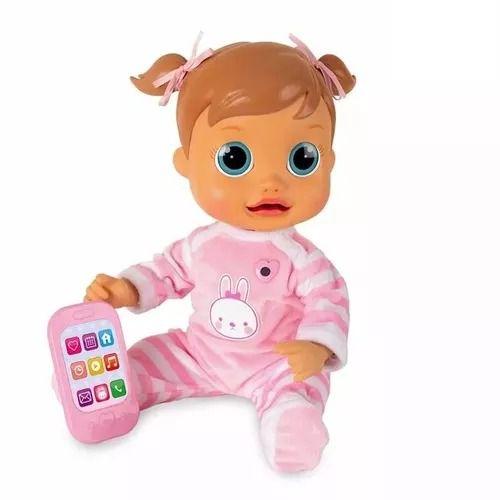 Boneca Baby Wow Analu Fala Interativa – 150 frases e palavras -Multikids