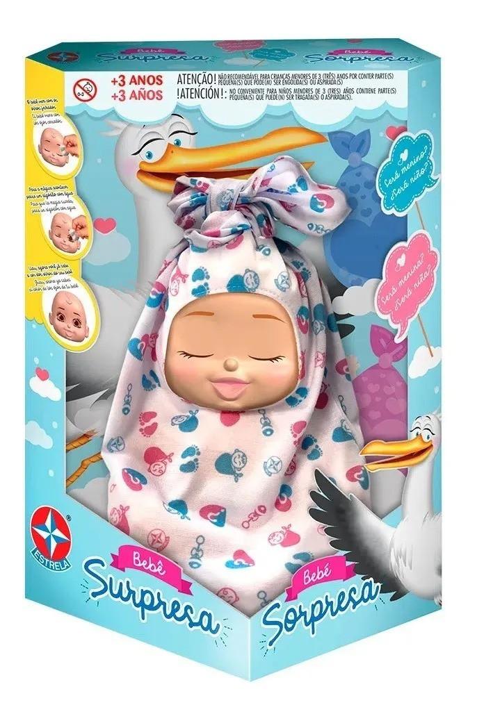 Boneca Bebê Surpresa Revelação - Estrela