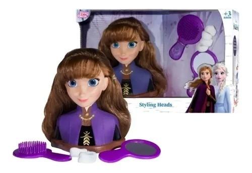Boneca Busto P/Pentear Anna Frozen 2 Disney Styling Heads - Baby Brink