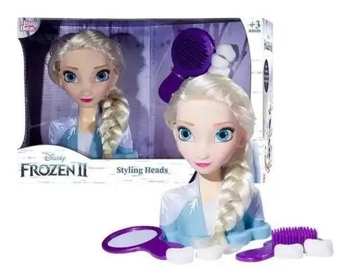 Boneca Busto P/Pentear Elsa Frozen 2 Disney Styling Heads - Baby Brink