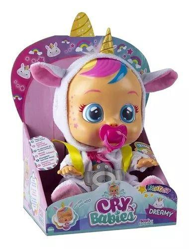 Boneca Cry Babies Dreamy Chora Com Sons e Lágrimas de Verdade - Multikids  - Doce Diversão