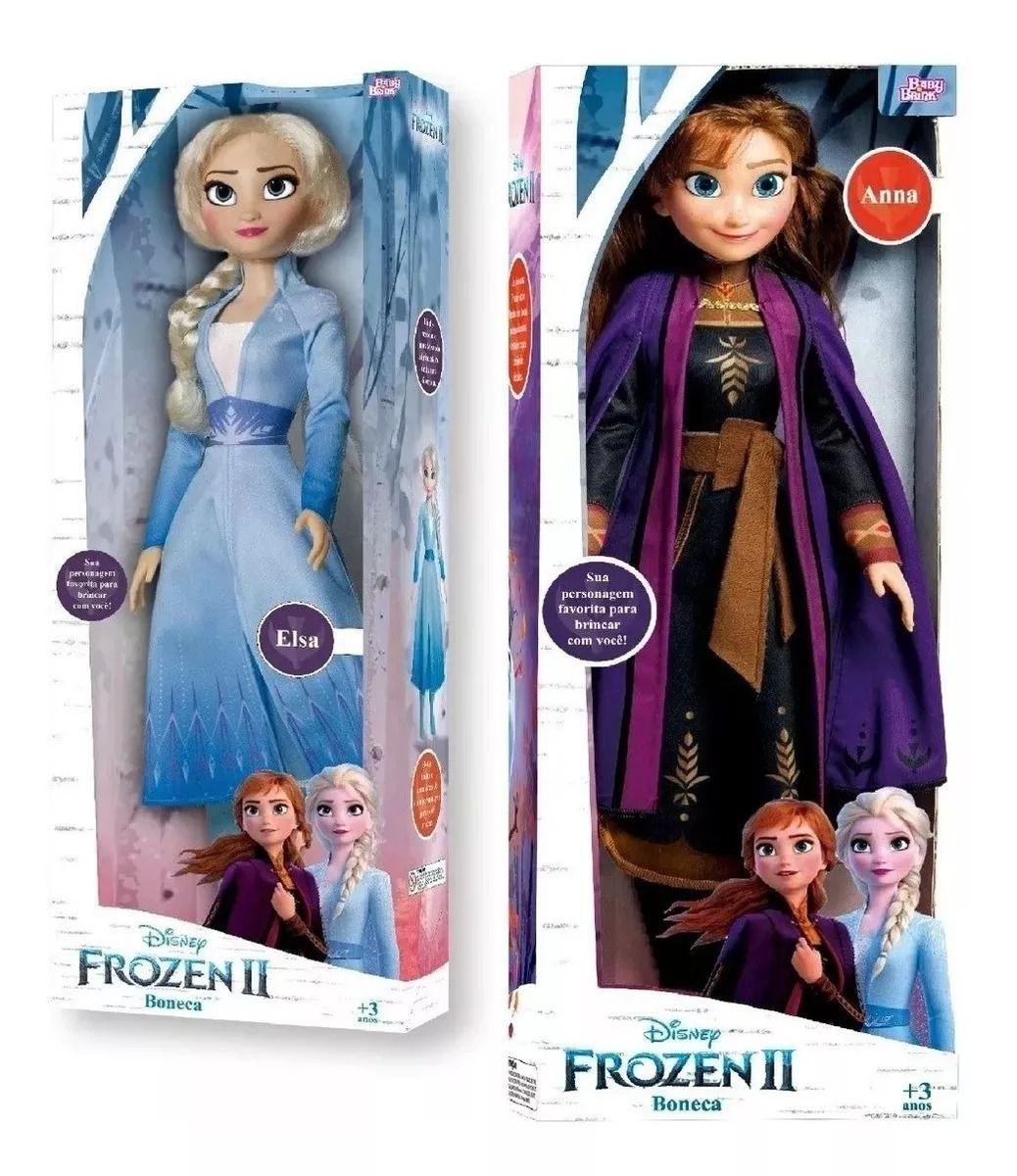 Boneca Frozen 2  - Elsa + Anna 55 cm Disney – Baby Brink
