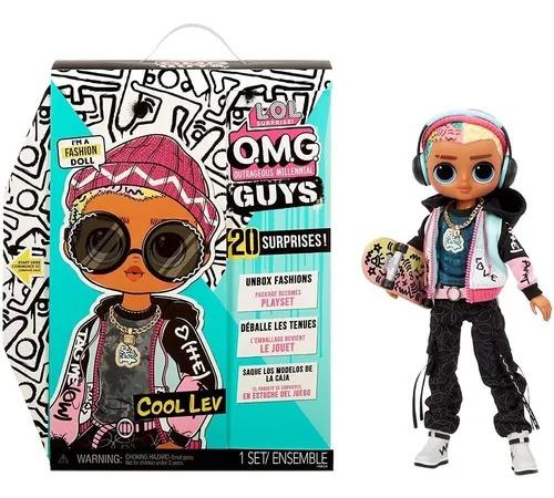 Boneca LOL OMG GUYS- O.M.G 20 Surpresas  Cool Lev  Candide