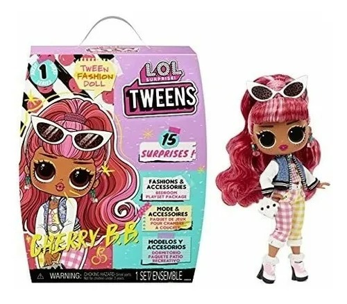 Boneca Lol Surprise Tweens Fashion Doll 15 Surpresas - Cherry B.B. - Candide