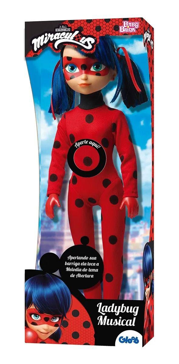 Boneca Miraculous Ladybug 45 cm C/ Som Musica Portugues - Baby Brink