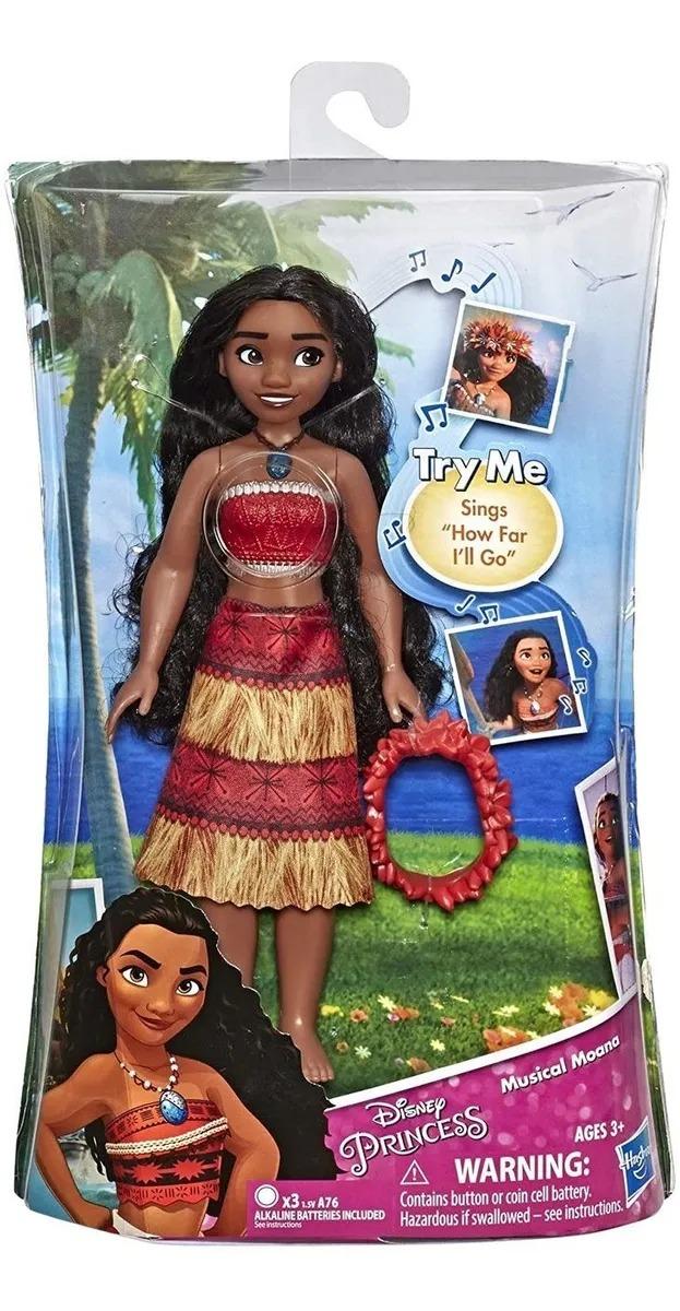 Boneca Princesas Disney - Moana Musical Com Som 25 Cm - Hasbro
