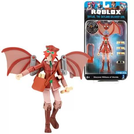 Boneco Articulado Roblox Skylas, The Skyland Delivery Girl C/ 6 Acessórios + Código Virtual - Sunny