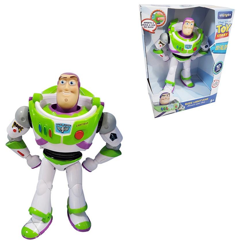 Boneco Buzz Lightyear Toy Story 4 - 26 Cm Articulado E Fala 10 Frases Português - Etitoys