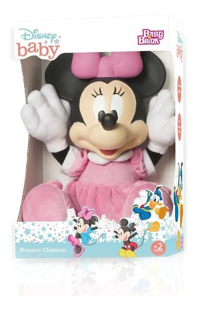 Boneco Clássico Disney Baby Minnie 52 cm - Baby Brink