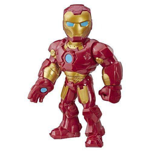 Boneco Playskool Hero Mega Mighty  Articulado 25 cm Homem de Ferro - Hasbro