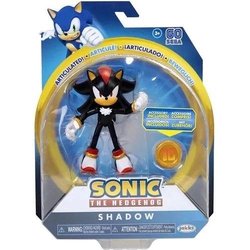 Boneco Sonic The Hedgehog -  Shadow 11 Pontos Articulações 10 cm – Fun