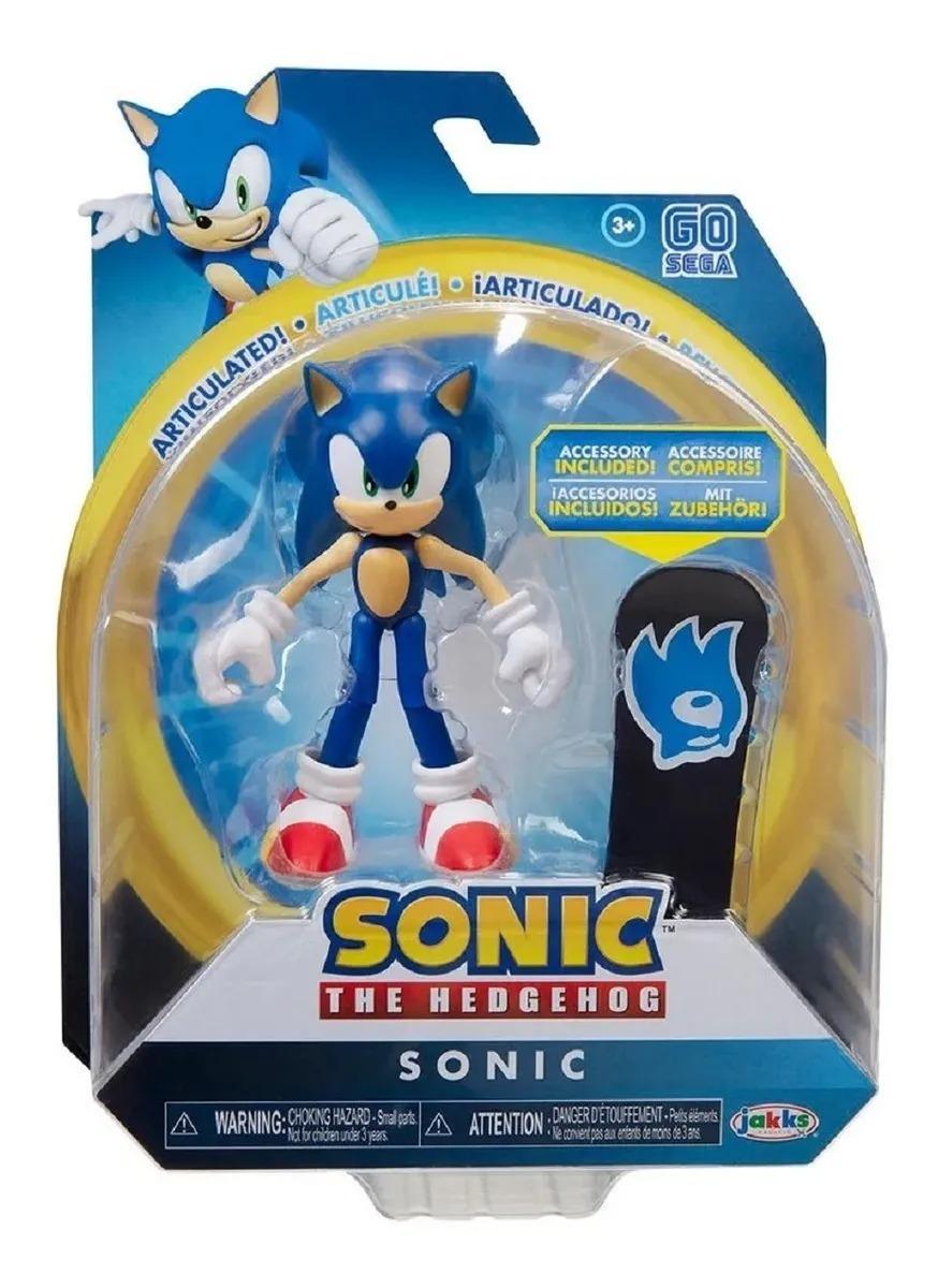 Boneco Sonic The Hedgehog - Sonic 11 Pontos Articulações 10 cm – Fun