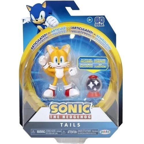 Boneco Sonic The Hedgehog - Tails 12 Pontos Articulações 9 cm – Fun