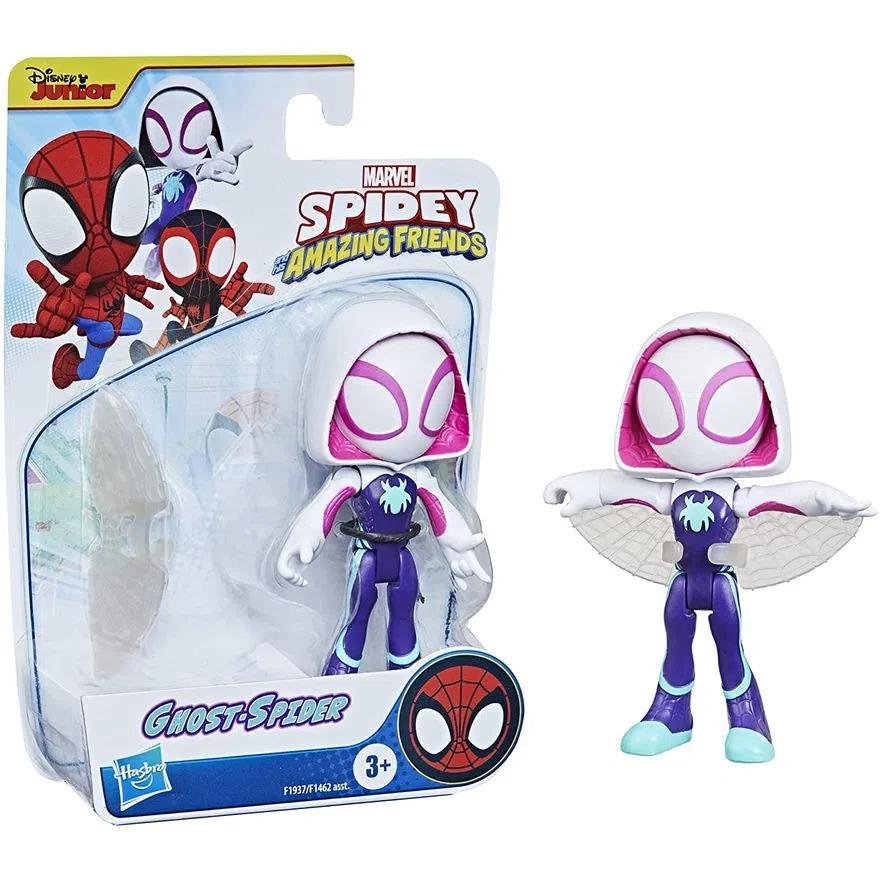 Boneco Spider Man Spidey Amazing Friends  - Ghost Spider Articulado C/Acessorio - Hasbro