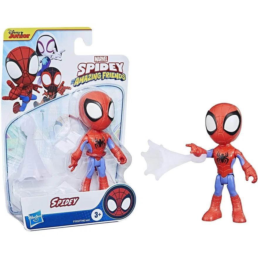 Boneco Spider Man Spidey Amazing Friends  - Homem Aranha Articulado C/Acessorio - Hasbro