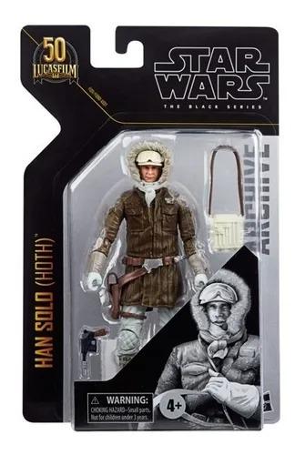 Boneco Star Wars Figura Black Series Han Solo ( Hoth)  Articulado 15 cm – Hasbro