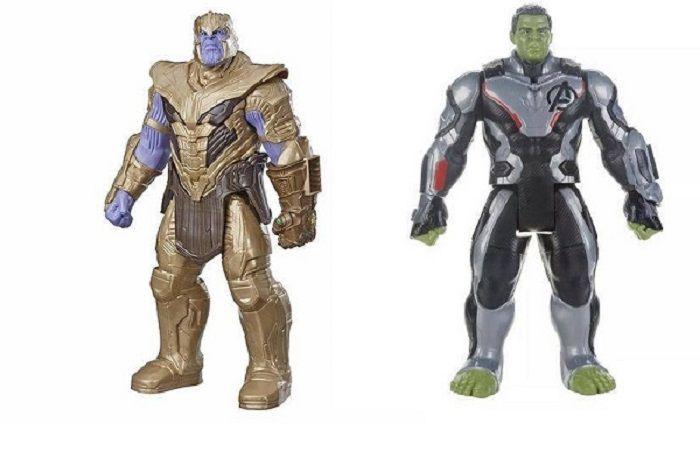 Boneco Titan FX Vingadores Avengers Ultimato - Thanos E Hulk 30 cm Articulados  - Hasbro