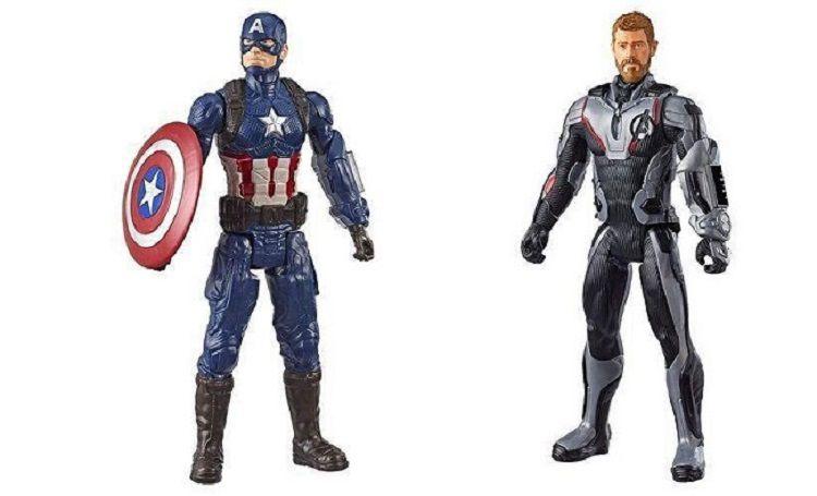 Boneco Titan FX Vingadores Ultimato – Thor e Capitão América 30 cm Articulado - Hasbro