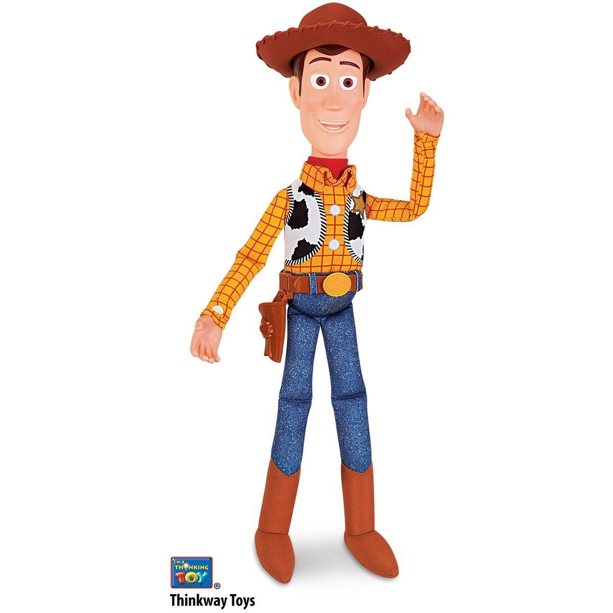 Boneco Toy Story Woody Fala 15 frases Portugues 40 cm - Toyng