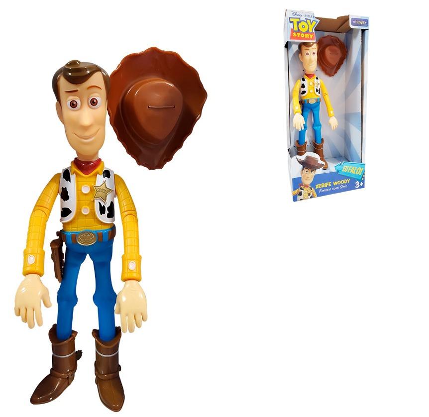 Boneco Xerife Woody Toy Story 4  28 cm Articulado Fala 14 Frases Portugues - Etitoys