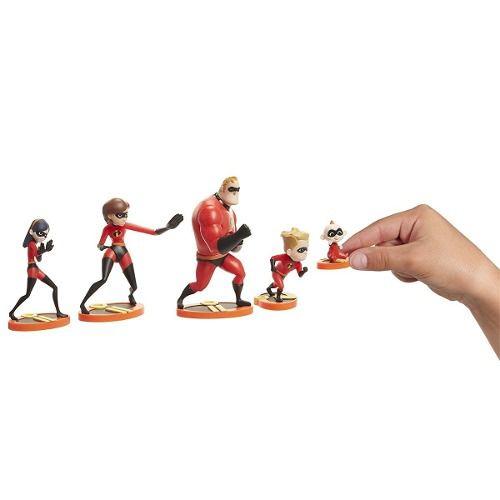 Bonecos Os Incríveis 2  Set 5 figuras Família -  Sunny   - Doce Diversão