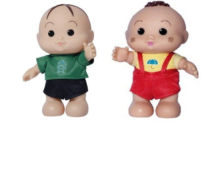 Bonecos Turma da Mônica Iti Malia – Cebolinha e Cascão 23 cm – Baby Brink