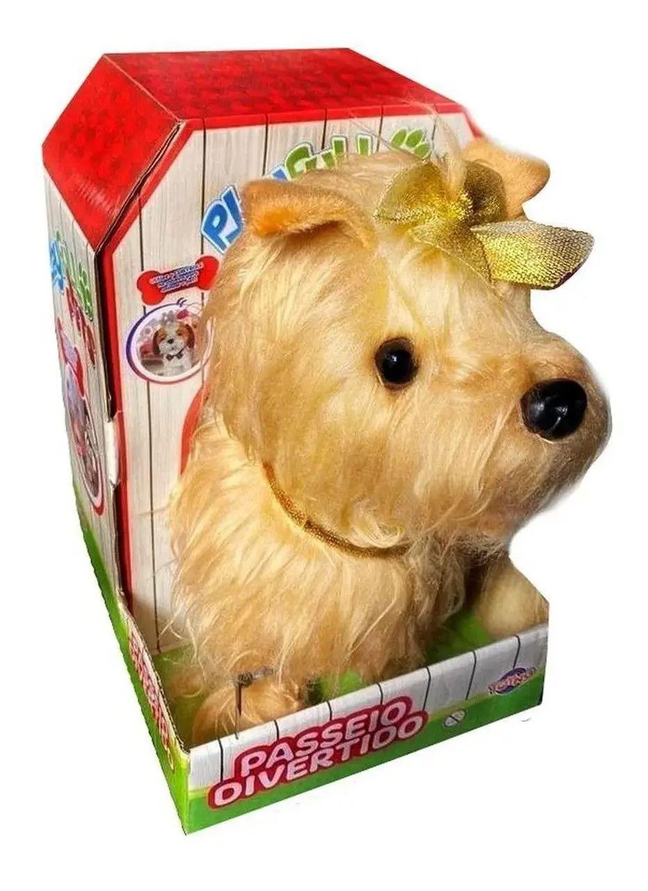 Cachorrinho Marrom Play Full Pets Coleira Com Controle - Anda e Late- Toyng